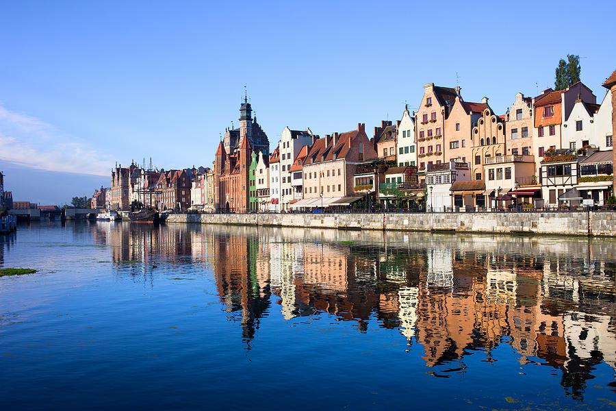 Gdansk Photograph - Gdansk Old Town And Motlawa River by Artur Bogacki