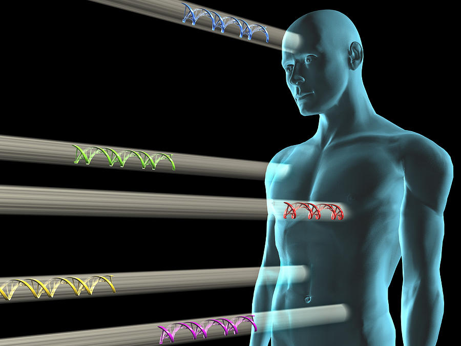 Dna Photograph - Gene Therapy, Conceptual Artwork by Laguna Design
