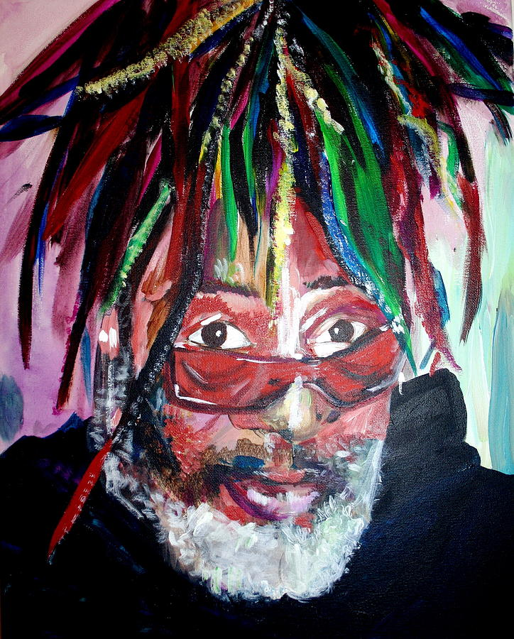 George Clinton Painting by Kate Fortin