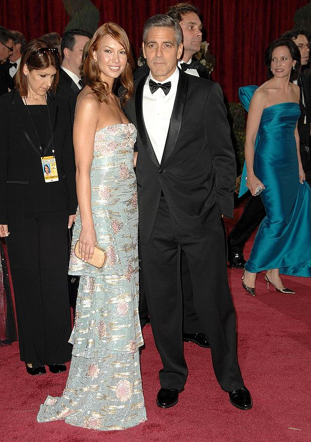 Red Carpet - 80th Annual Academy Awards Oscars Ceremony Photograph - George Clooney, Sarah Larson Wearing by Everett