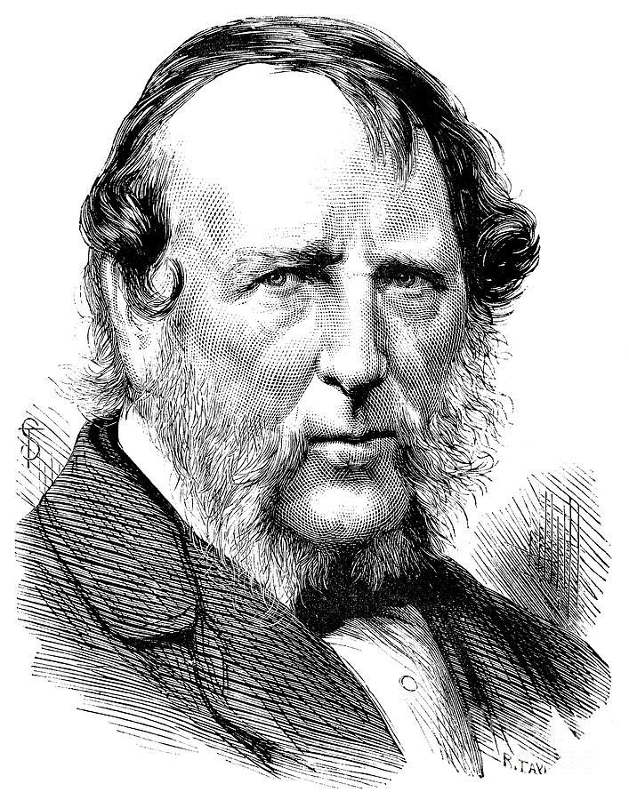 1872 Photograph - George Cruikshank by Granger
