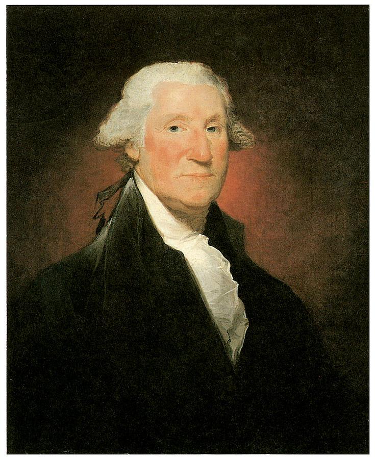 Gilbert Stuart Painting - George Washington by Gilbert Stuart