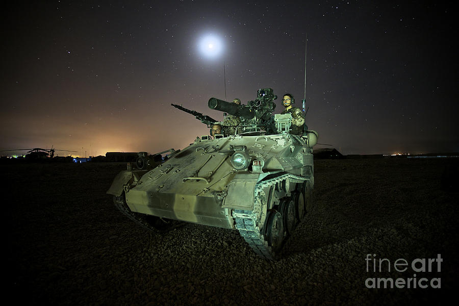 Rheinmetall Mg3 Photograph - German Army Crew In A Wiesel 1 Atm Tow by Terry Moore