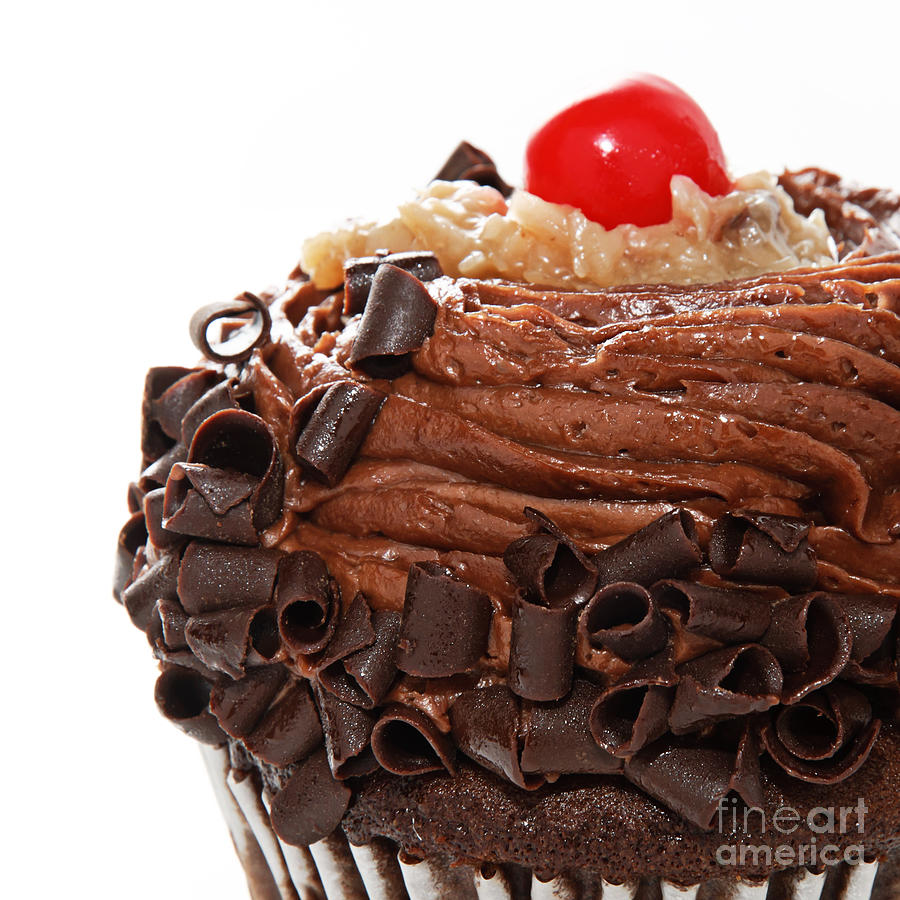 Andee Design German Chocolate Cupcake Photograph - German Chocolate Cupcake 3 by Andee Design