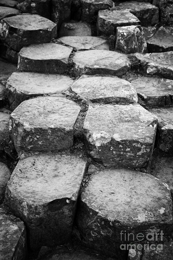 Northern Ireland Photograph - Giants Causeway Stones Northern Ireland by Joe Fox