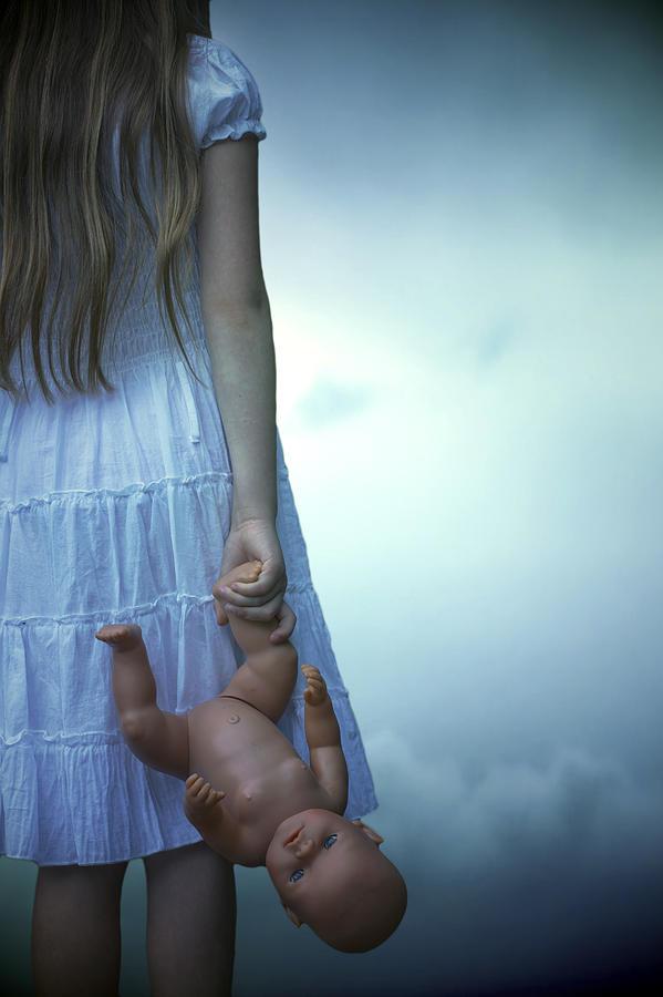 Girl Photograph - Girl With Baby Doll by Joana Kruse
