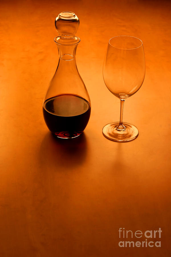 Alcohol Photograph - Glas And Wine  by Kristian Peetz