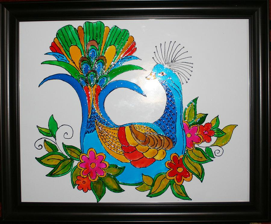 Glass painting glass art by supriya billapati for How to paint glass painting
