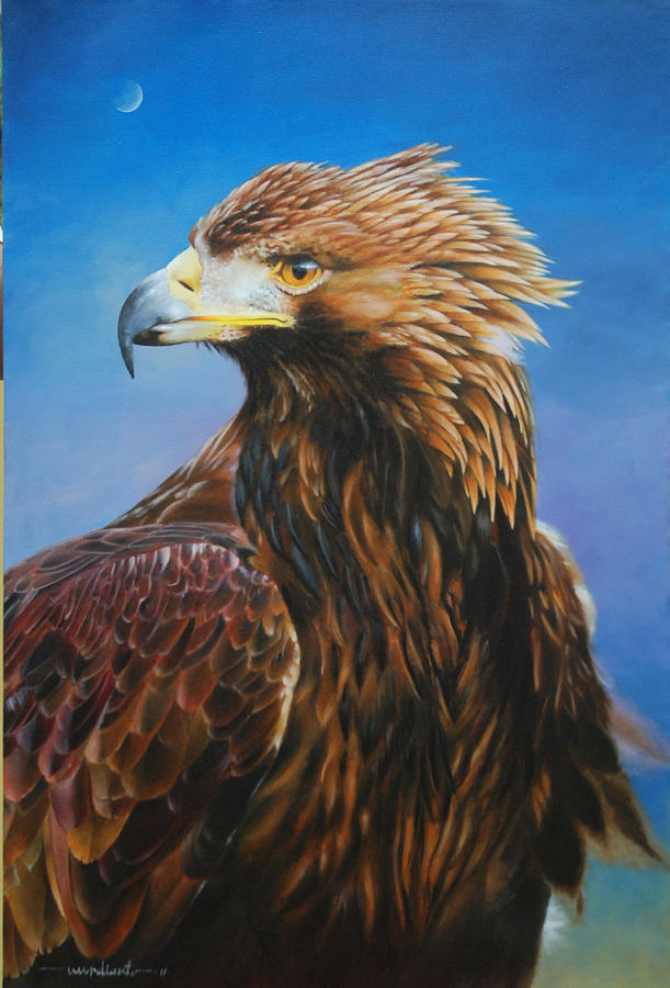 Bird Painting - Golden Eagle by Harry Nurdianto