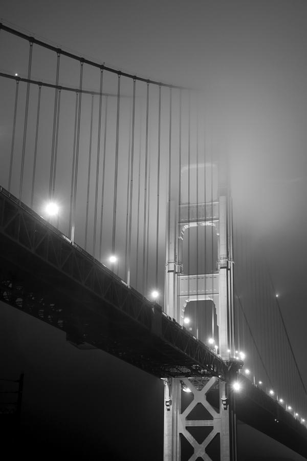 Golden Gate Bridge at night by Mike Irwin