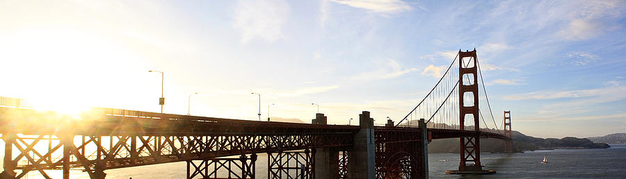 San Photograph - Golden Gate Panorama by Sean Gillespie