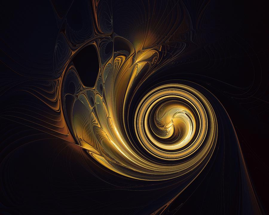 Golden Spiral Digital Art By Amanda Moore