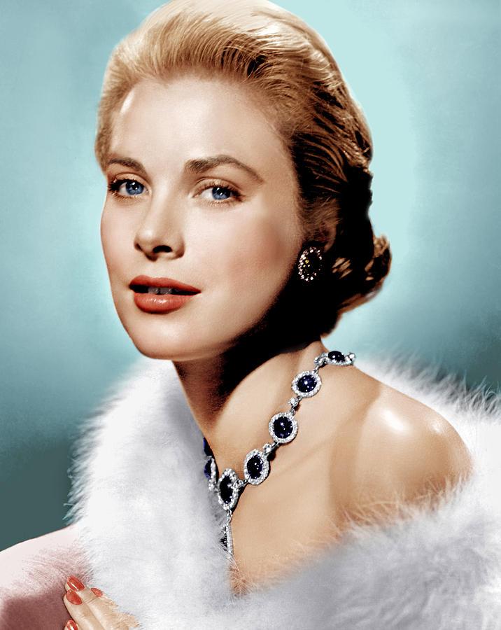 Earrings Photograph - Grace Kelly, Ca. 1955 by Everett