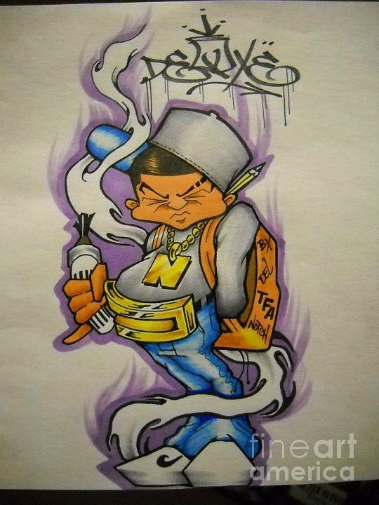 Graffiti Drawing By Hector Perez