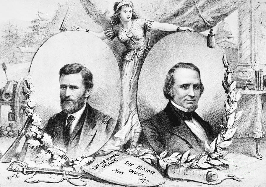 1872 Photograph - Grant: Election Of 1872 by Granger