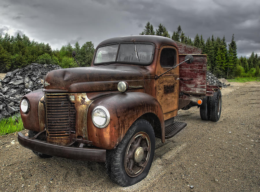 Truck Photograph - Gravel Pit Road by Heather  Rivet