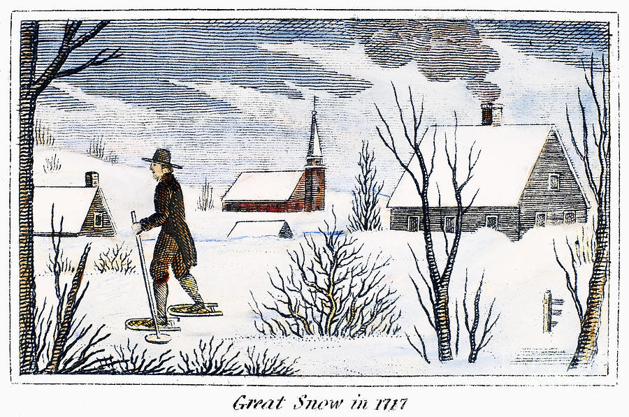 1717 Photograph - Great Snow Of 1717 by Granger