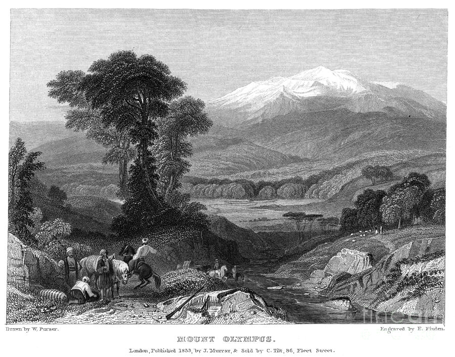 1833 Photograph - Greece: Mount Olympus by Granger
