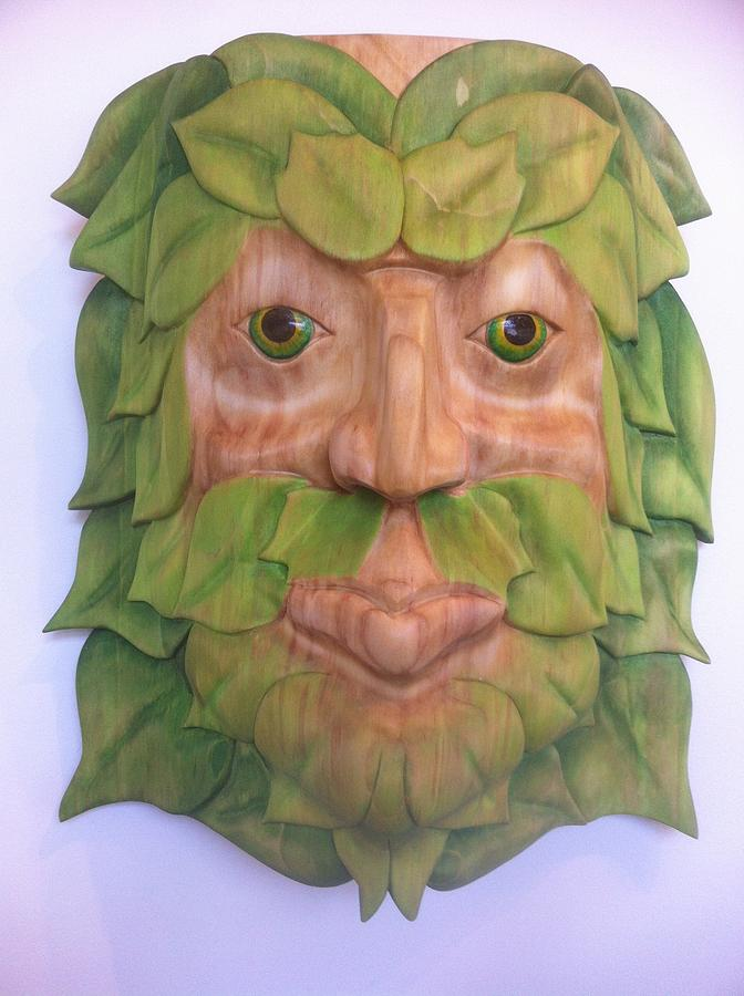Redwood Sculpture - Greenman by Shane  Tweten