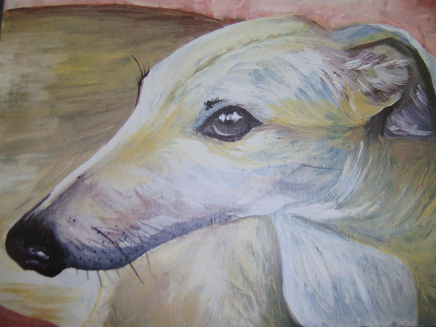 Greyhound Painting - Greyhound by Leslie Manley
