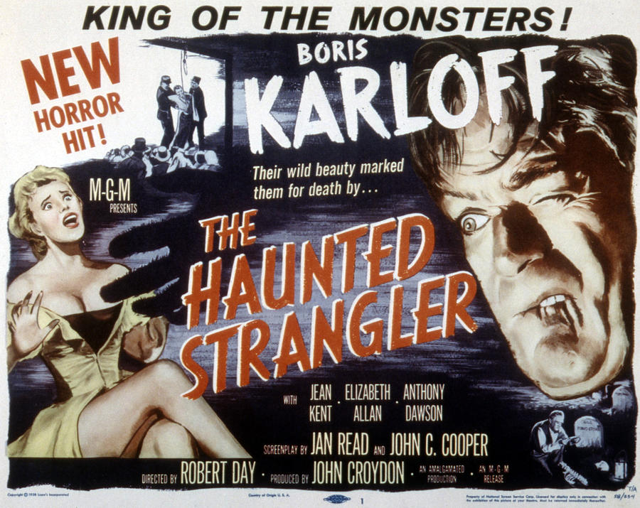 1958 Movies Photograph - Grip Of The Strangler, Aka The Haunted by Everett