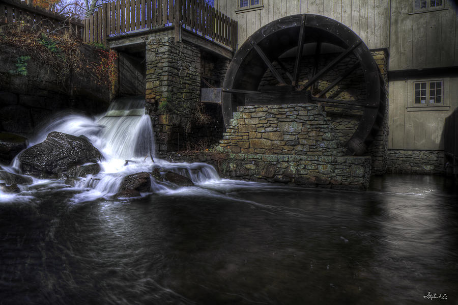 Grist Mill Photograph - Grist Mill 1 by Stephen EIS