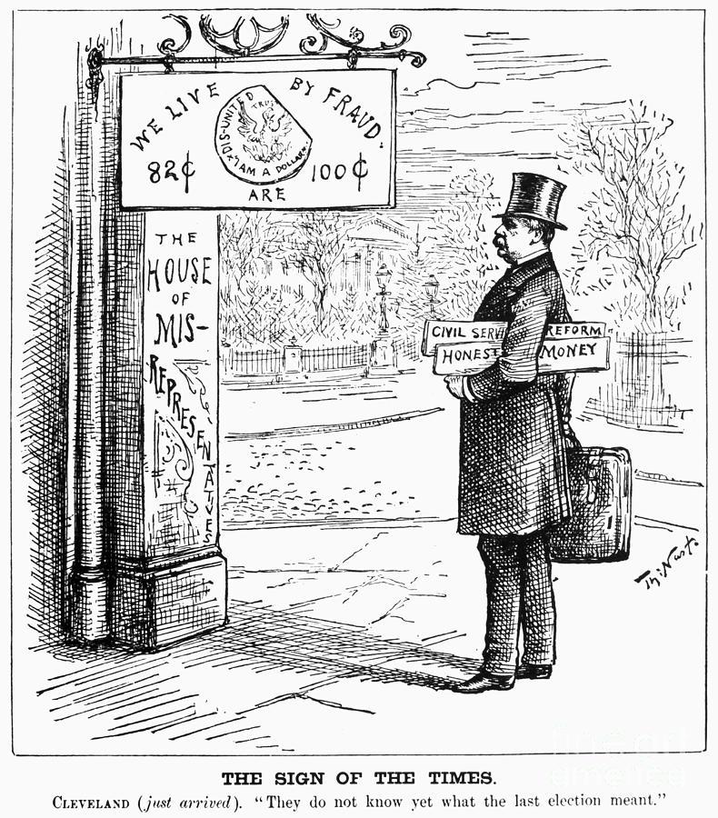 1885 Photograph - Grover Cleveland Cartoon by Granger