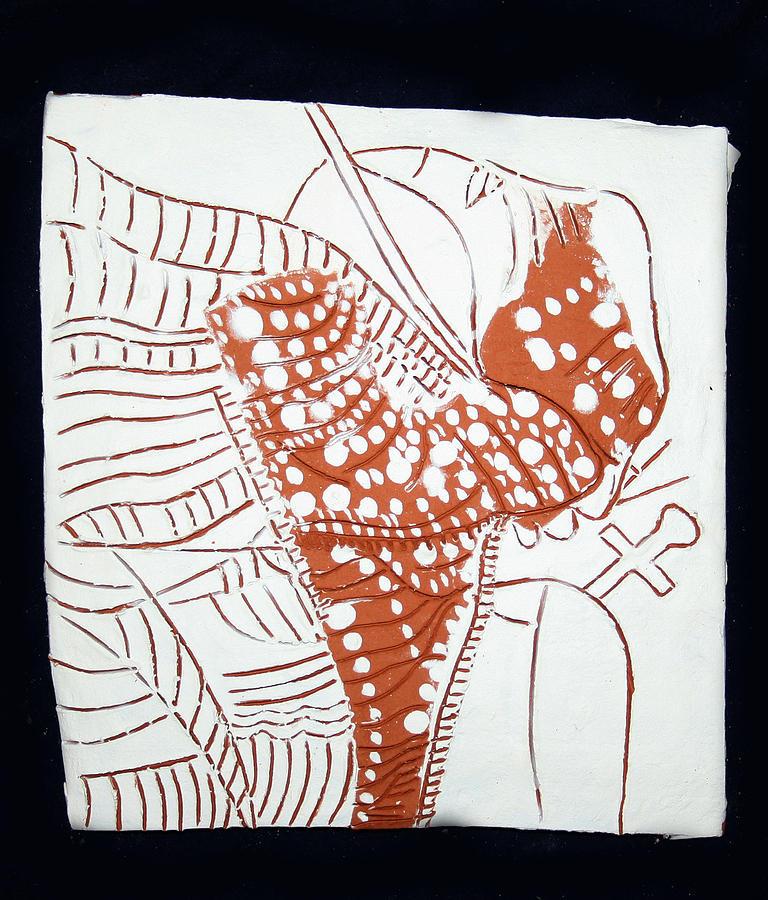 Jesus Painting - Guardian Angel - Tile by Gloria Ssali