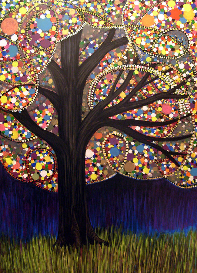 Tree Painting - Gumball Tree 00053 by Monica Furlow