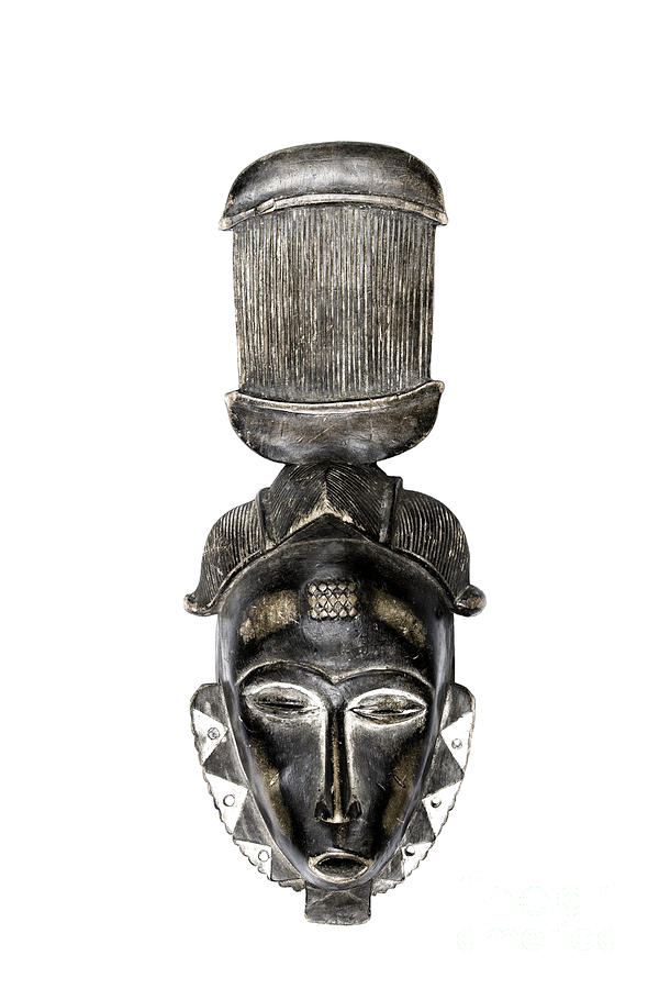 Masks Photograph - Guro Mask From Cote Divoire by Paul Greenway