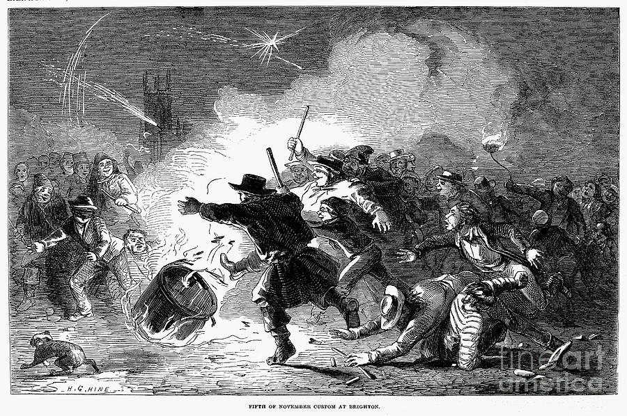 1853 Photograph - Guy Fawkes Day, 1853 by Granger