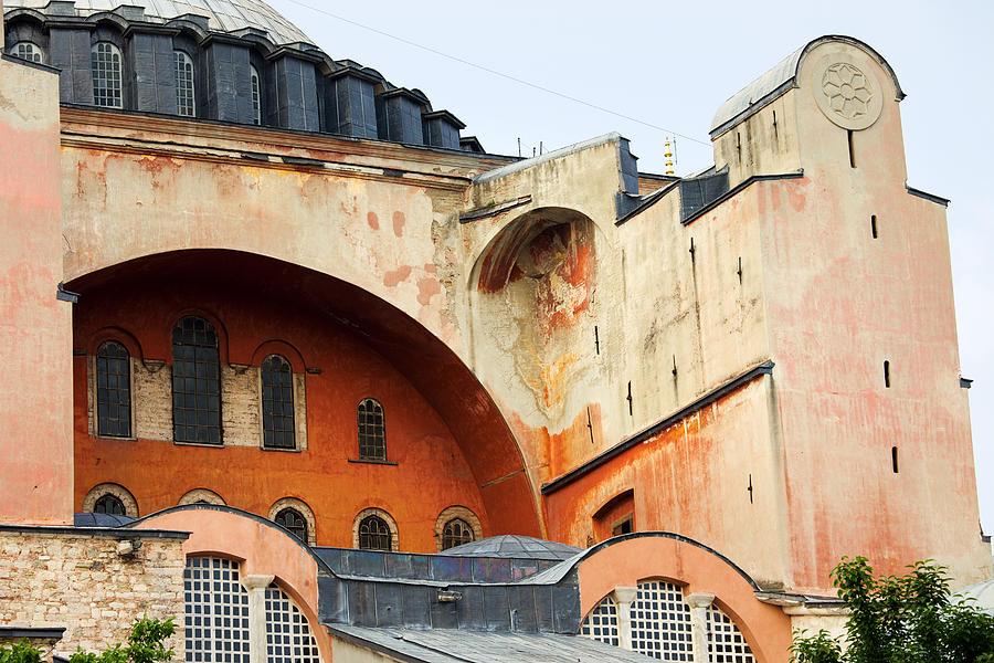 Ayasofya Photograph - Hagia Sophia Byzantine Architecture by Artur Bogacki