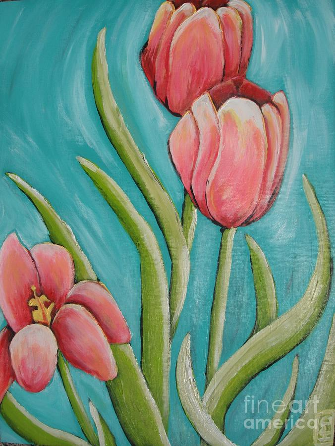 Tulip Painting - Haile Spring by Holly Donohoe
