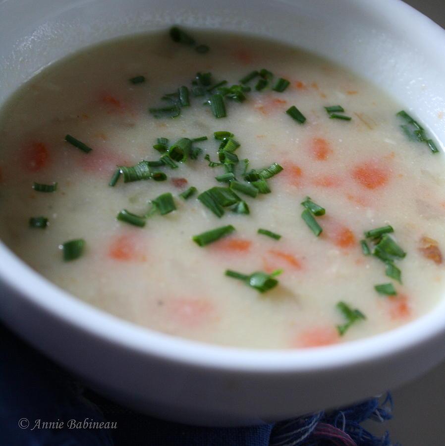 Ham Photograph - Ham And Potato Soup by Anne Babineau
