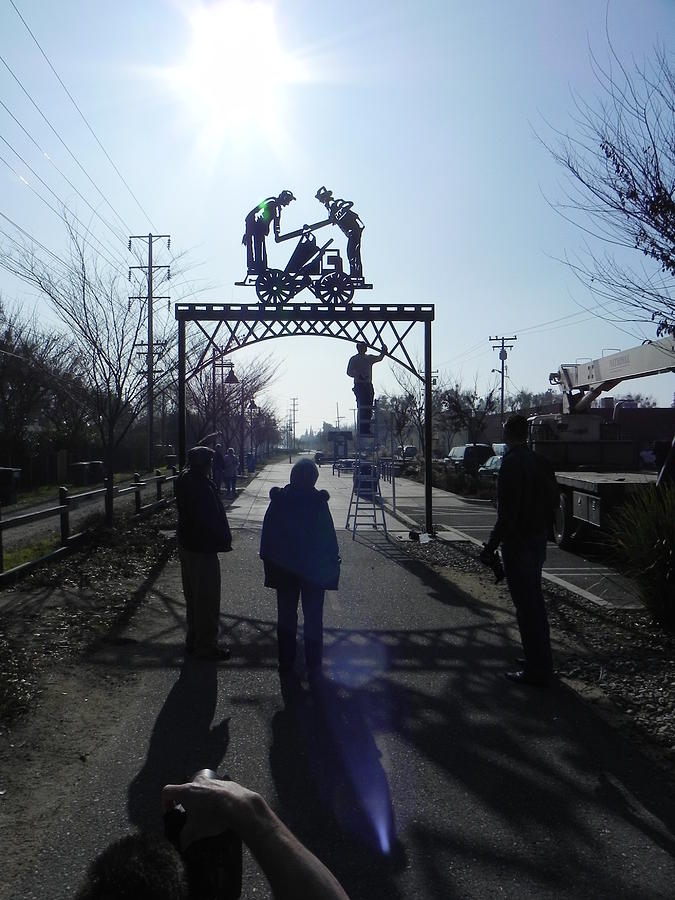 Public Art Sculpture - Handcart by Steve Mudge
