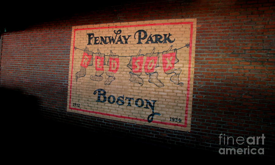 Red Sox Photograph - Hanging Socks To Dry by Jonathan Harper