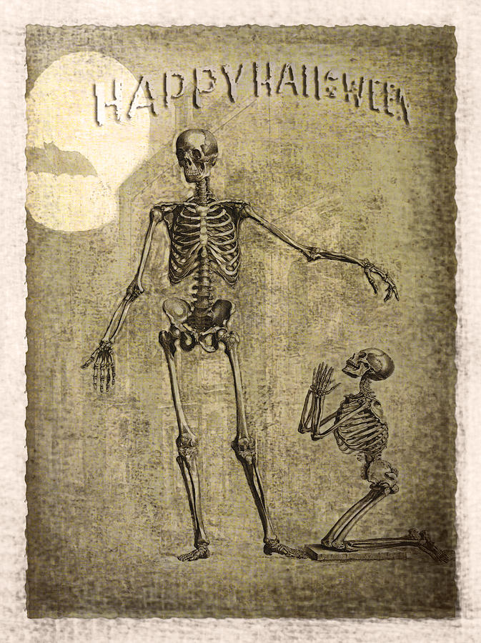 Ghost Photograph - Happy Halloween by Jeff Burgess