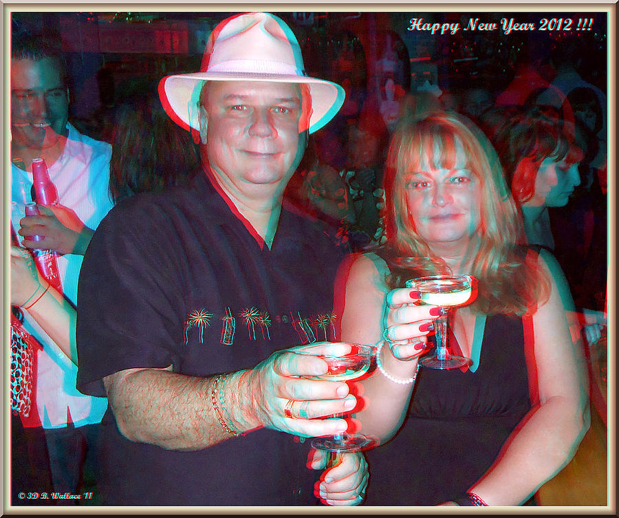 3d Photograph - Happy New Year by Brian Wallace