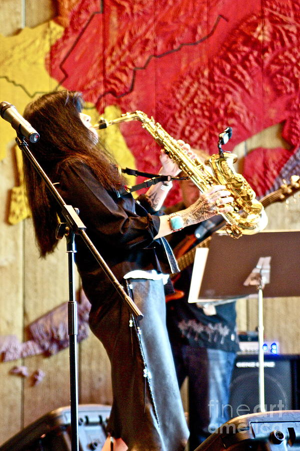 Anchorage Photograph - Harjo On Sax by James Knights
