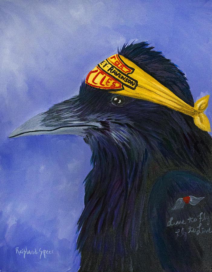 Raven Painting - Harley Ravenson by Amy Reisland-Speer