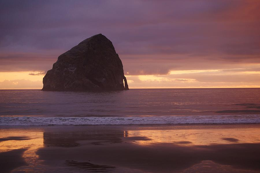 Rock Photograph - Haystack Rock by Angi Parks