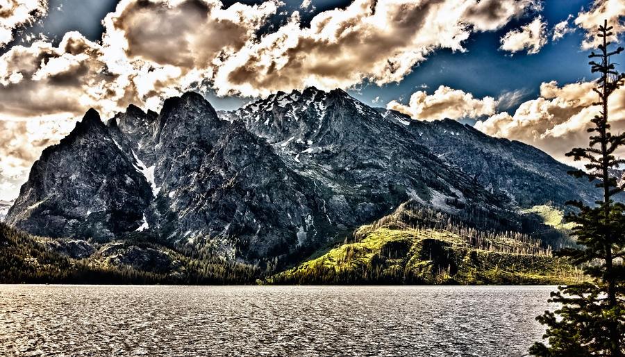 Hdr Jenny Lake Photograph
