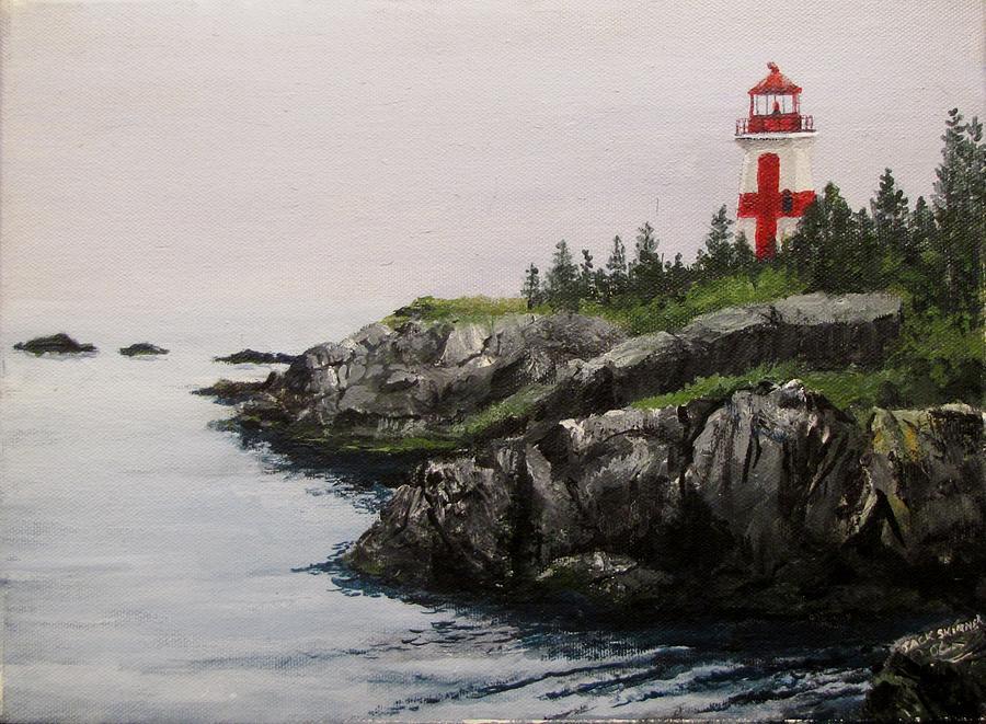 Ocean Painting - Head Harbour Lighthouse by Jack Skinner
