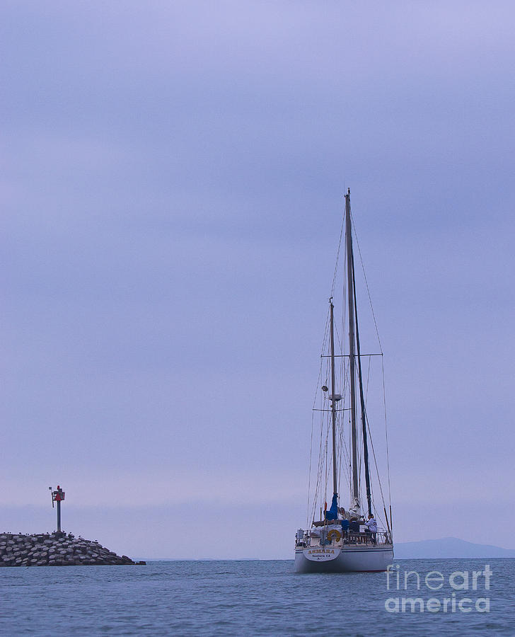 Sail Photograph - Heading Out by Patty Descalzi
