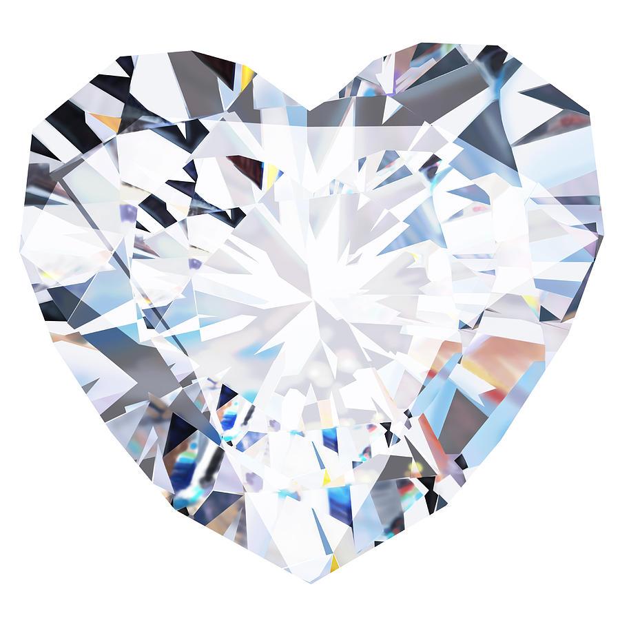 Abstract Photograph - Heart Diamond  by Setsiri Silapasuwanchai
