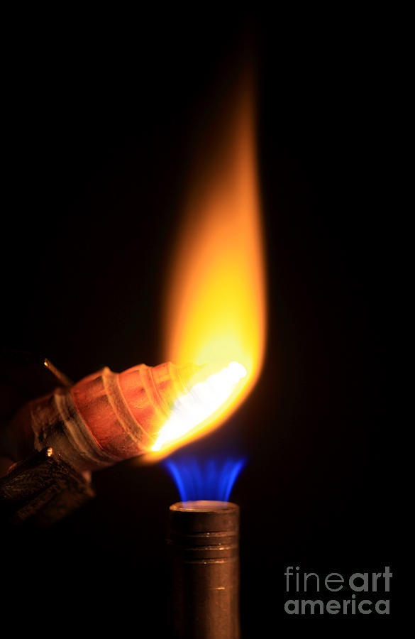 Science Photograph - Heating Lime Limelight by Ted Kinsman