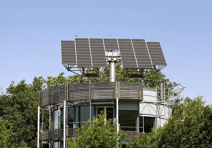 Building Photograph - Heliotrope Solar House by Martin Bond