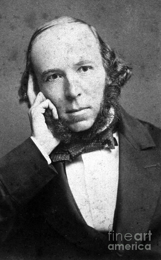 Science Photograph - Herbert Spencer, English Polymath by Science Source