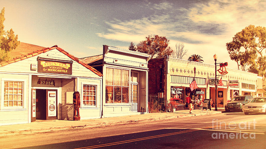Retro Photograph - Historic Niles District In California Near Fremont . Main Street . Niles Boulevard . 7d10676 by Wingsdomain Art and Photography