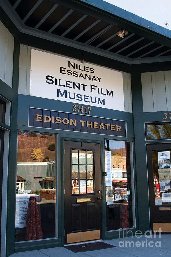 Theater Photograph - Historic Niles District In California Near Fremont . Niles Essanay Silent Film Museum Edison Theater by Wingsdomain Art and Photography